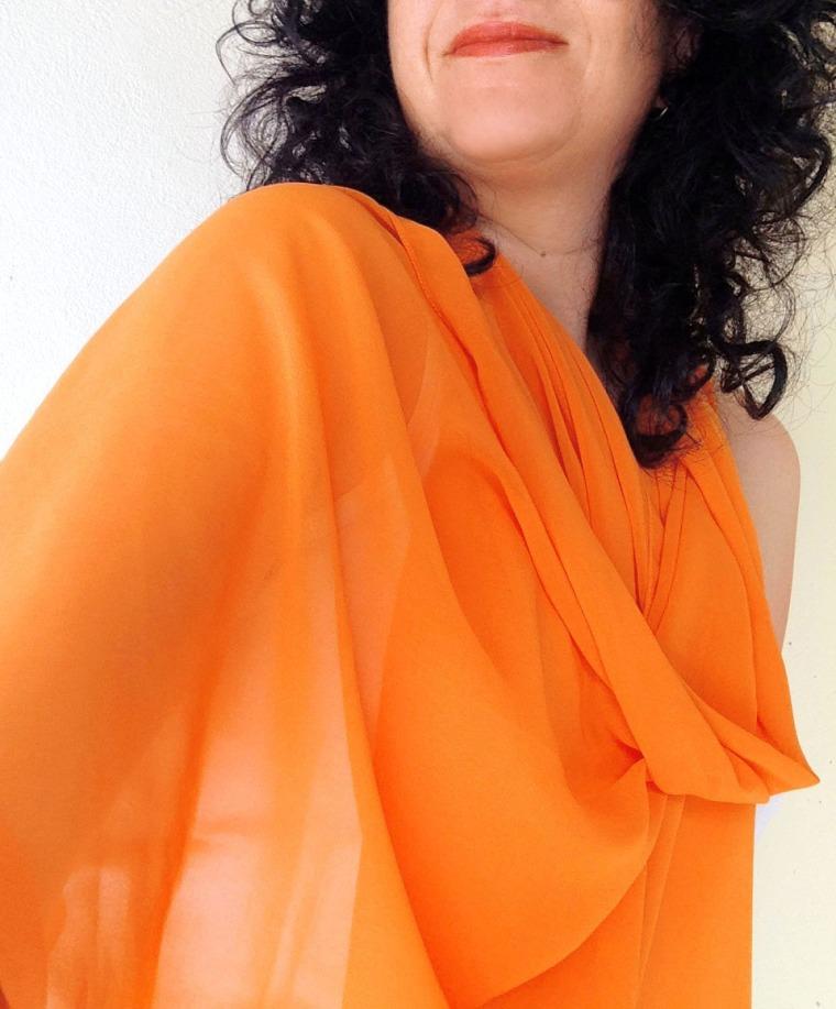 chiffon scarf -carot-