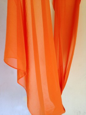 chiffon scarf -carrot-