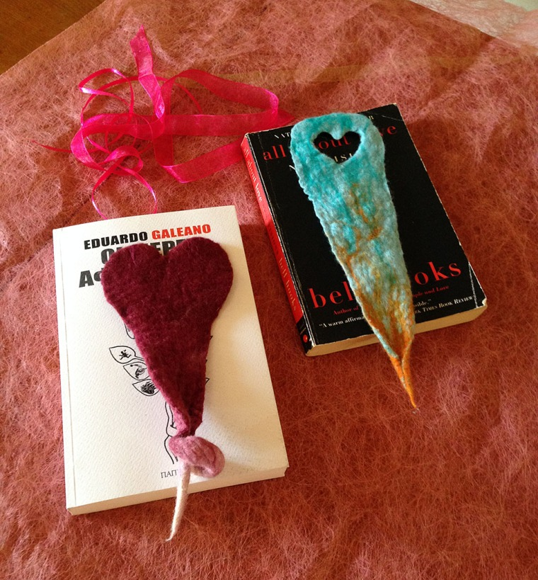 felted bookmarkers -love renaissance-