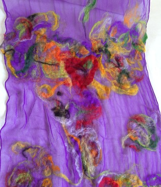 nuno felted scarf -color palette-